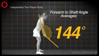 トッププロゴルファーのセットアップ姿勢(ポスチャー)